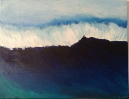 "Deep Blue Sea, 20"" x 16""; Acrylic on canvas; SOLD"