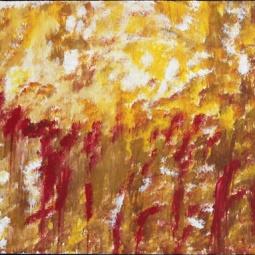 "Morning Dew, 14"" x 11""; Acrylic on canvas"
