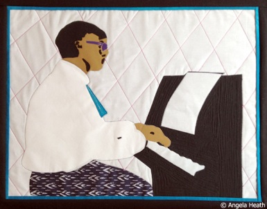 """PIANO MAN; 24""""w by 18""""h; NFS"""